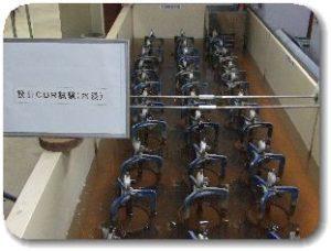 JIS A 1211 設計CBR試験及び修正CBR試験の水浸写真