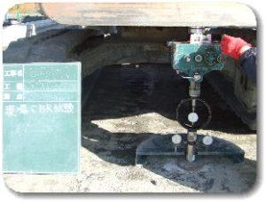 JIS A 1222 現場CBR試験の写真