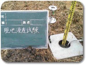 現地浸透試験-ボアホール法の写真