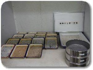 JIS A 1223 土の細粒分含有率試験の写真