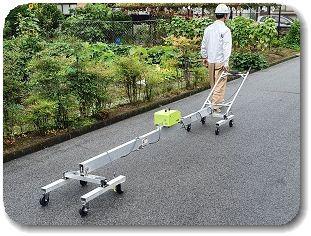 舗装路面の平坦性測定の写真